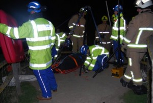 Members of the local Fire Service and Newhaven Coastguard organised the removal of the body