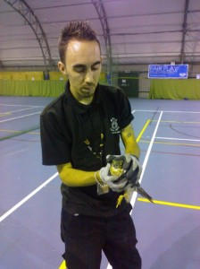 Rescuer Chris with the Hawk