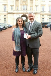 Trevor and Kathy at Buckingham Palace 2012
