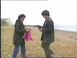 Meta Mann recieves another oiled Guillemot from a young Trevor Weeks on Seaford Beach in the late 1980s.