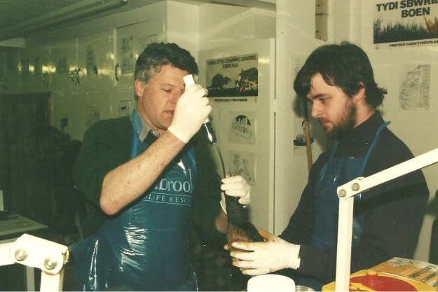 Trevor (Right) at the Sea Empress Oil Spill 1996